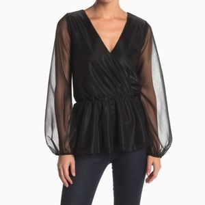 NWT NSR | BRIDGIT SHEER LONG SLEEVE BLOUSE